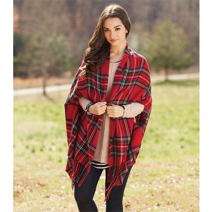 Tartan Plaid Wrap Scarf Mud Pie